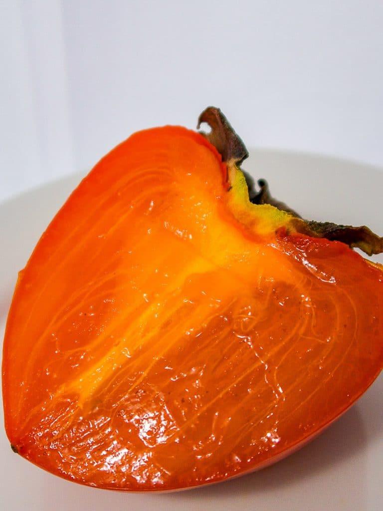 hachiya persimmon cut in half