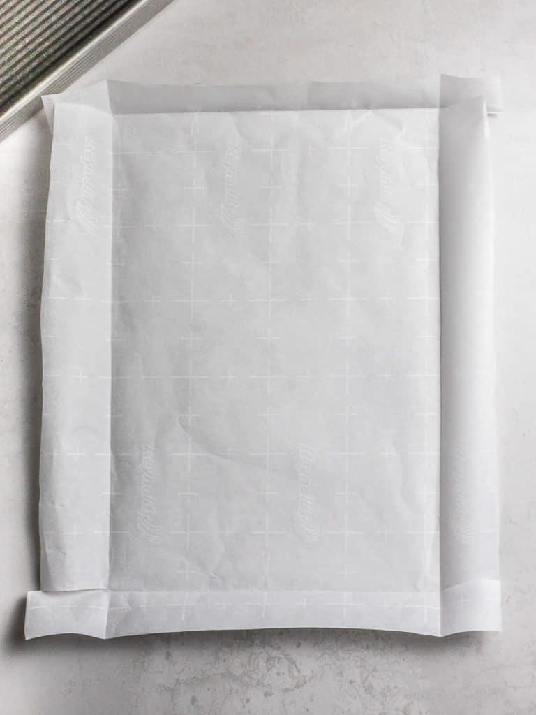 parchment paper folded