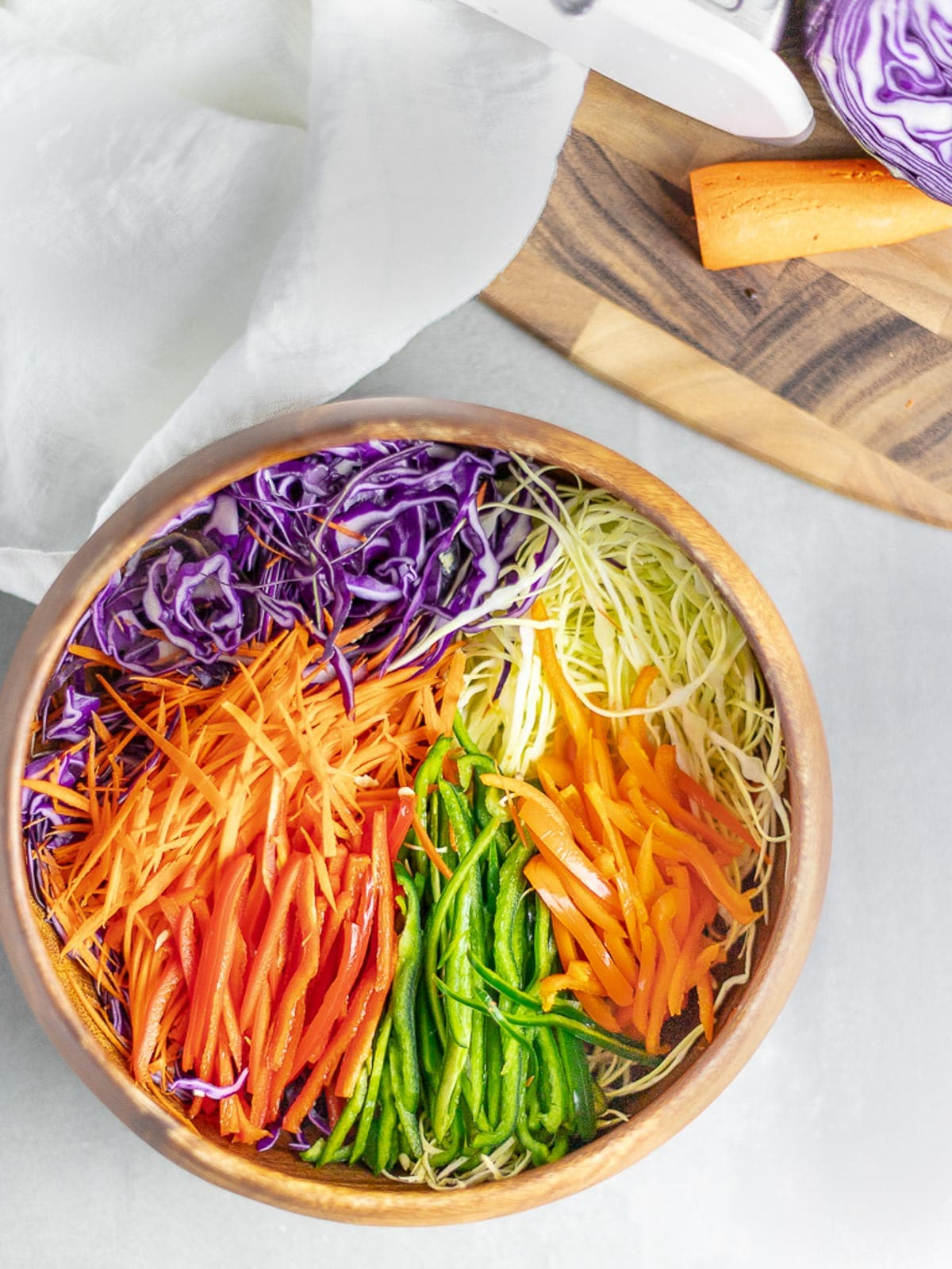 Healthy Rainbow Cabbage Salad Recipe Drive Me Hungry