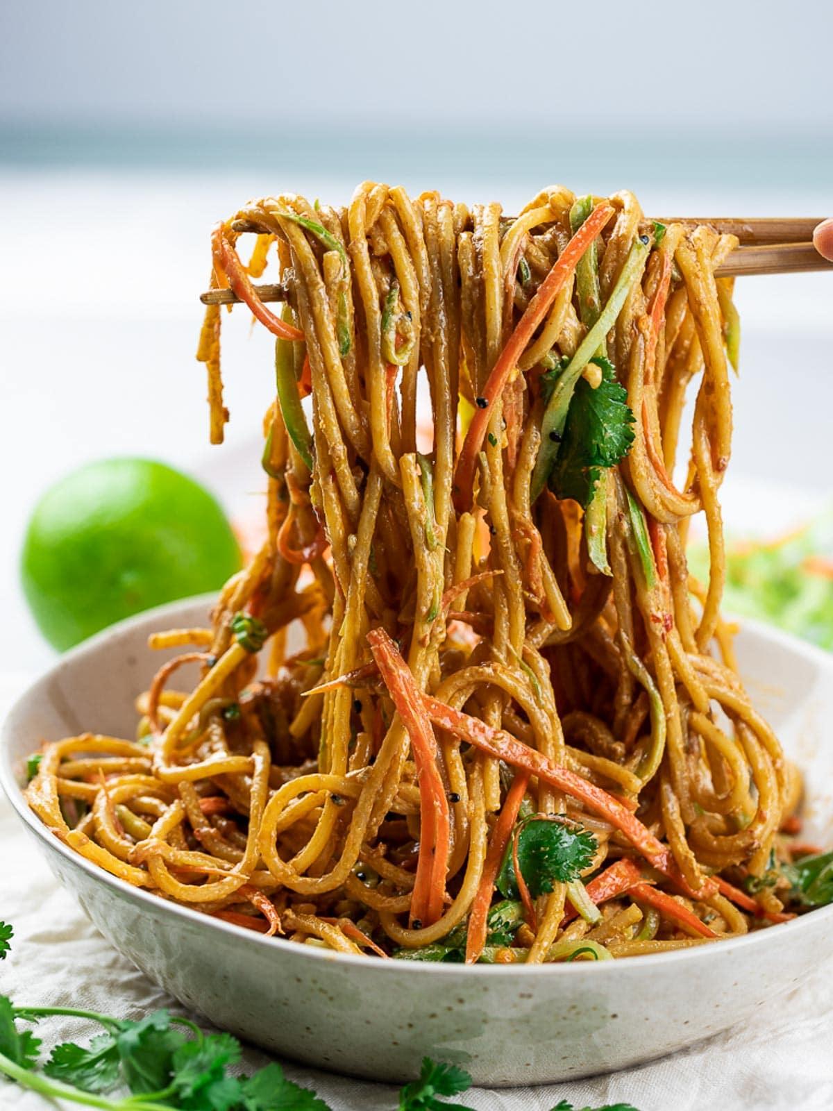 15 Minute Vegan Thai Peanut Noodles - Drive Me Hungry-7995