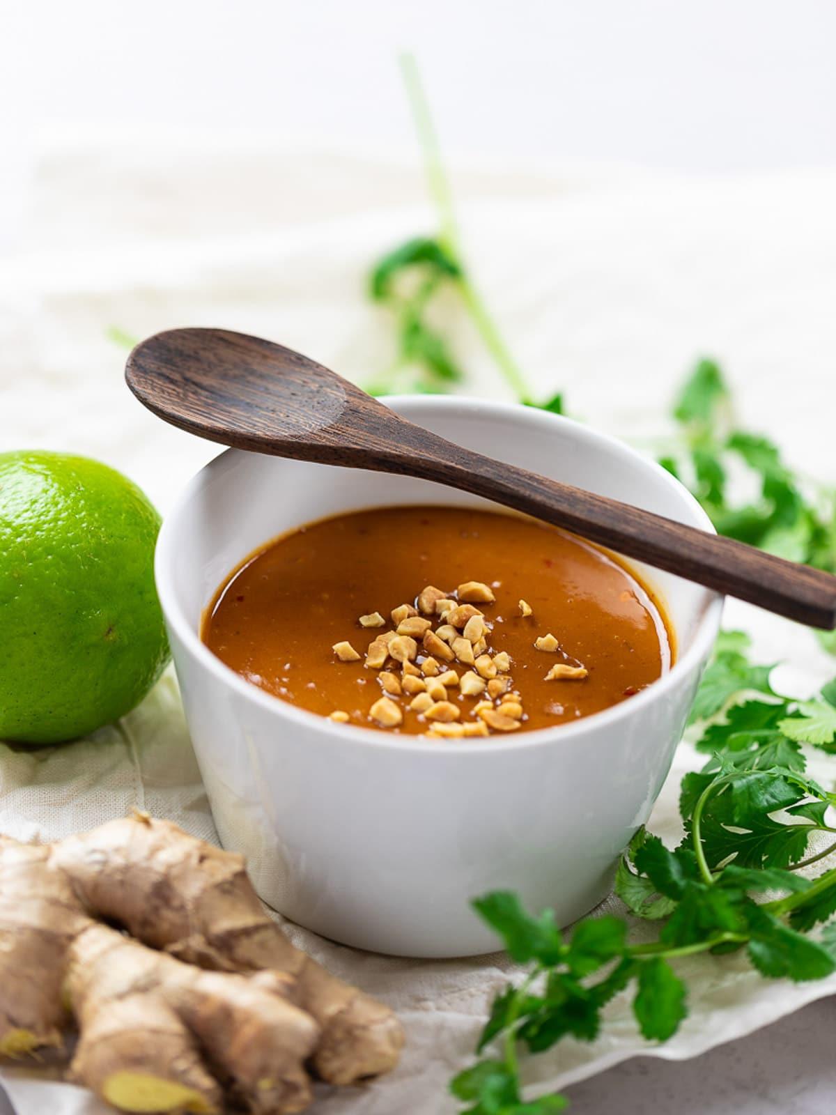 5 Minute Thai Peanut Sauce Recipe Drive Me Hungry
