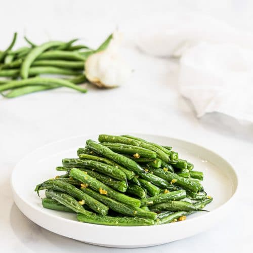 Chinese style dry fried garlic green beans, Din Tai Fung green beans