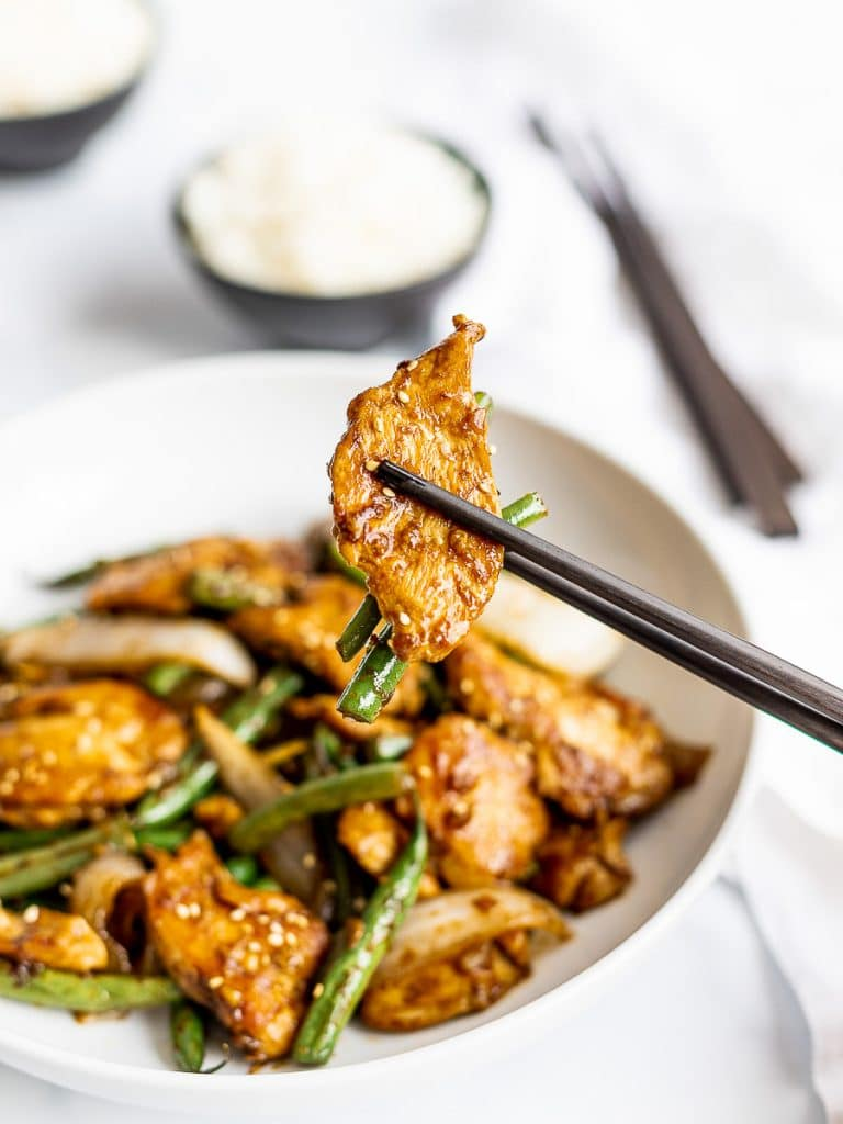 Panda Express String Bean Chicken Breast Copycat; chicken and green bean stir fry