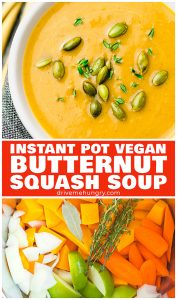 Instant Pot vegan butternut squash soup