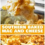 Southern baked mac and cheese with breadcrumbs