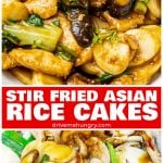 stir fried Asian rice cakes