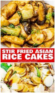 stir fried Asian rice cakes