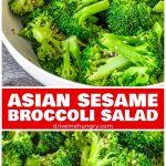 Asian sesame broccoli salad