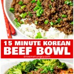 15 Minute Korean Beef Bowl