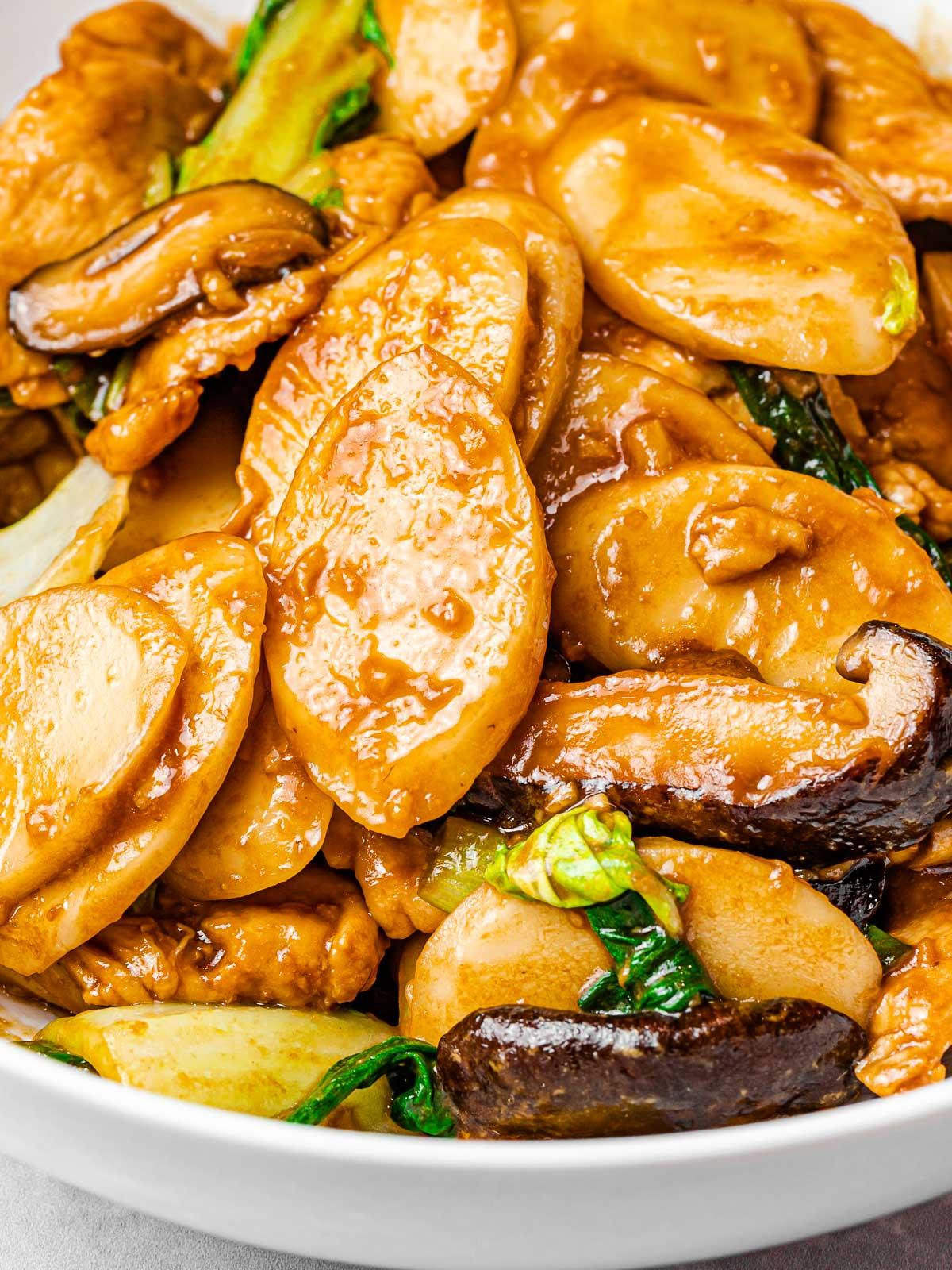 Stir Fried Shanghai Rice Cakes Chao Nian Gao Drive Me Hungry
