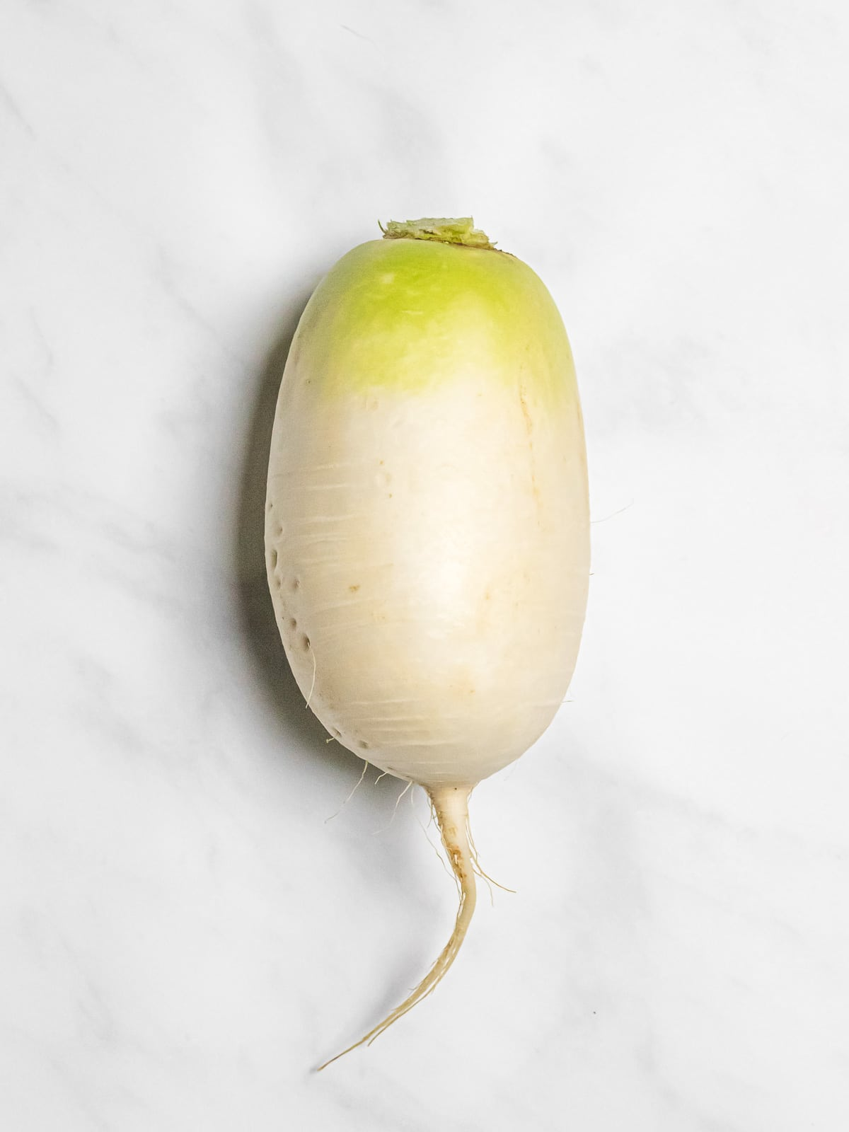 Korean radish on a marble board