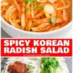 Spicy Korean radish salad