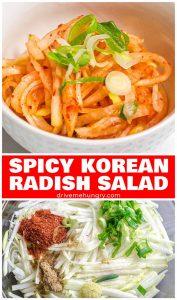 Spicy Korean radish salad