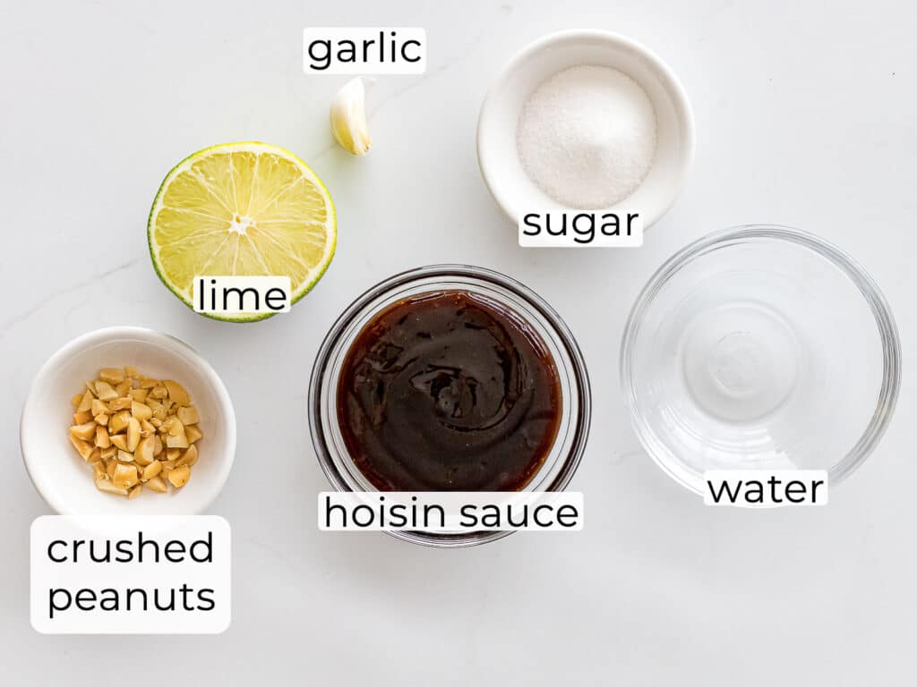 ingredients for hoisin dipping sauce