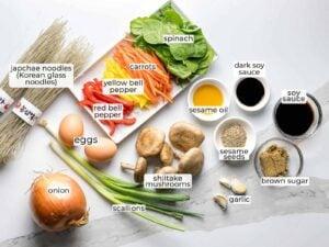 ingredients for japchae recipe