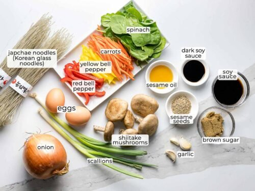 ingredients for japchae recipe