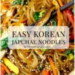 easy Korean japchae noodles