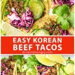 Easy Korean beef tacos