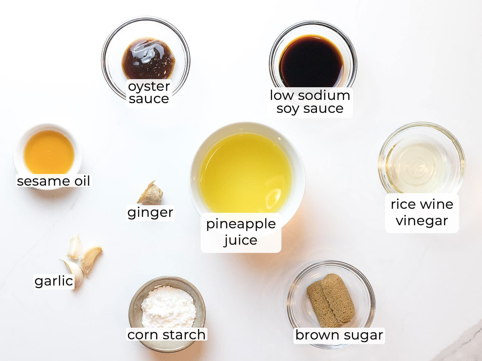 ingredients for pineapple chicken sauce