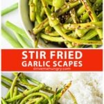 Stir fried garlic scapes