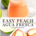 Easy Peach Agua Fresca