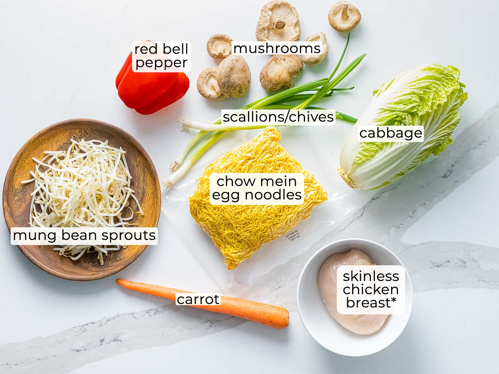 ingredients for chicken chow mein