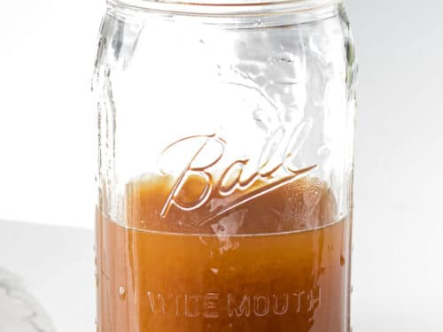 yeast water in a glass mason jar with metal lid