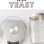 How to capture wild yeast with a photo of kitchen scale, raisins, and mason jar