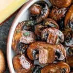 how to make sauteed mushrooms with a photo of mushrooms
